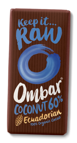 Ombar Organic Raw Chocolate - Coconut 60%
