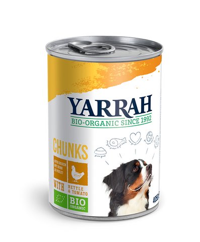 Yarrah Dog Chunks - Chicken with Nettle & Tomato