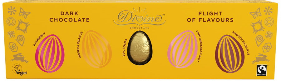 Divine Flight of Flavours Dark Chocolate Egg Selection