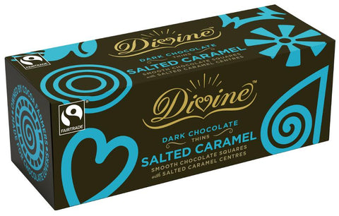 Divine Dark Chocolate After Dinner Salted Caramel Thins