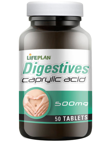 Lifeplan Digestives Caprylic Acid 500mg