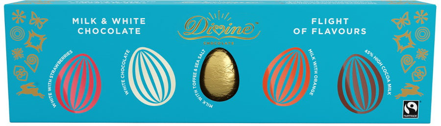 Divine Flight of Flavours Milk & White Chocolate Egg Selection