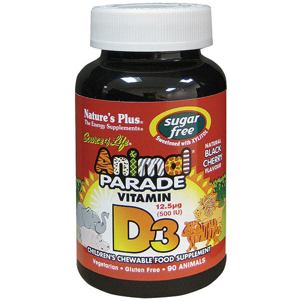 Natures Plus Animal Parade Sugar-Free Vitamin D3