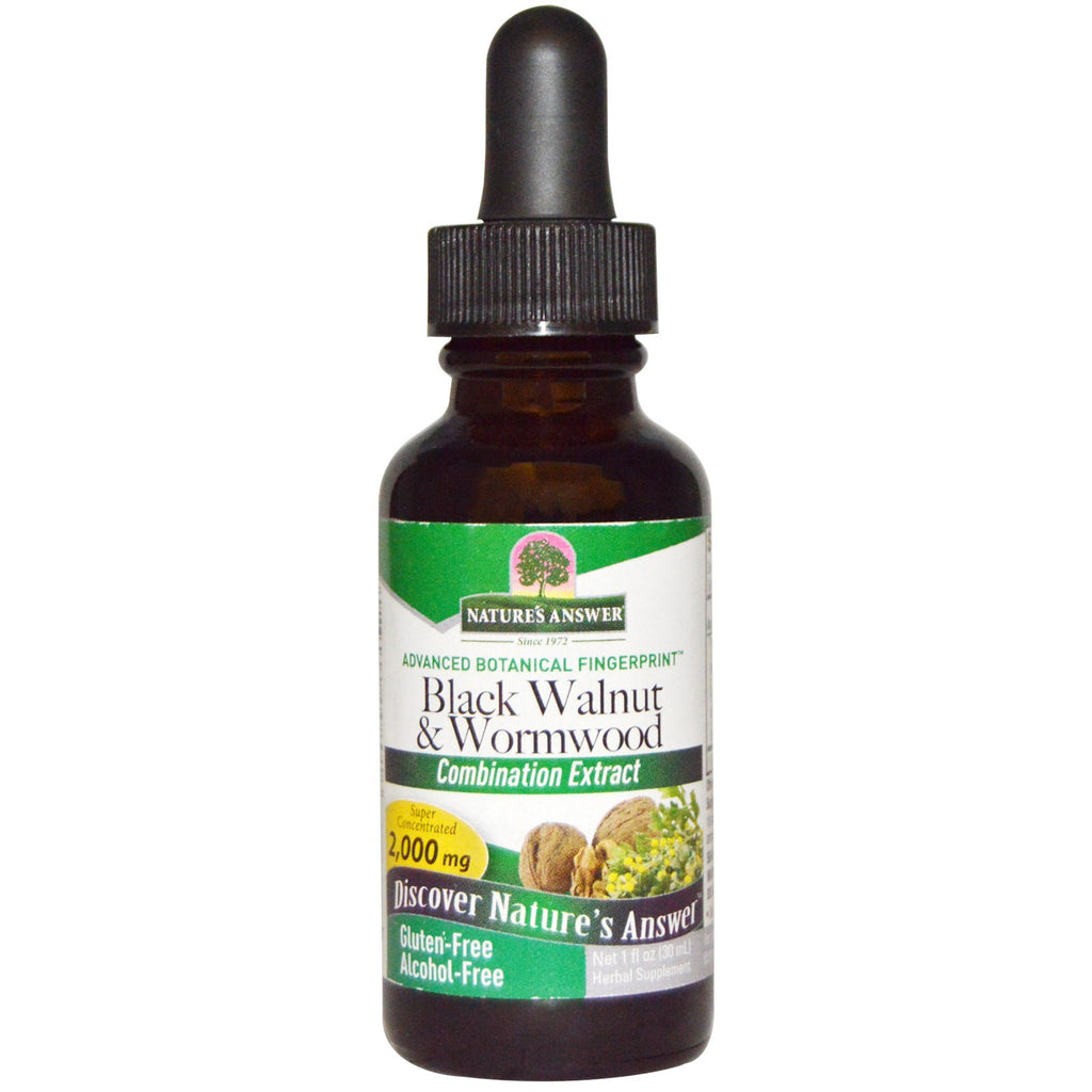 Nature's Answer Black Walnut & Wormwood Complex - alcohol free