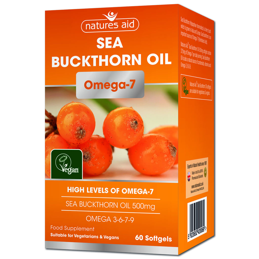 Nature's Aid Sea Buckthorn Oil 500mg