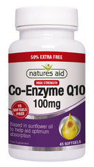 Nature's Aid Co-Q-10 100mg (50% EXTRA)