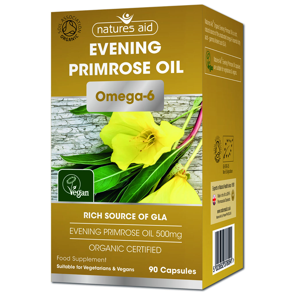 Nature's Aid Organic Evening Primrose Oil 500mg