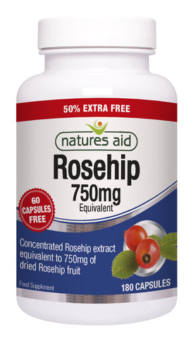 Nature's Aid Rosehip 750mg (50% EXTRA)