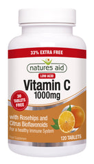 Nature's Aid Vitamin C Low Acid 1000mg (33% EXTRA)