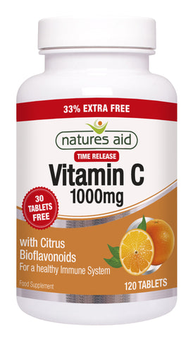 Nature's Aid Vitamin C Timed Release 1000mg (33% EXTRA)