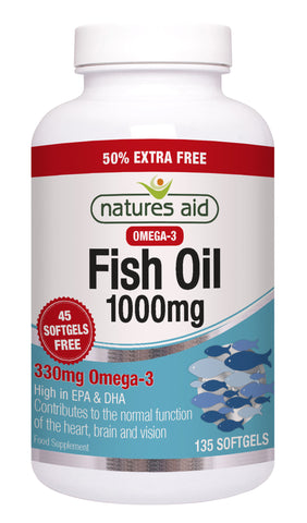Nature's Aid Fish Oil 1000mg (50% EXTRA)