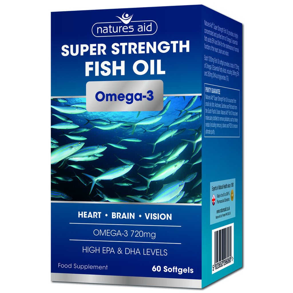 Nature's Aid Super Strength 1200mg Omega 3 Fish Oil