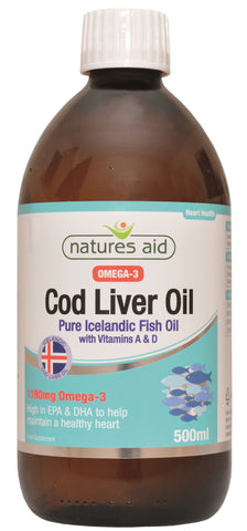 Nature's Aid Cod Liver Oil Liquid