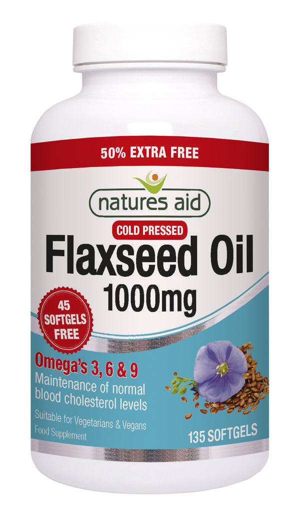 Nature's Aid Flaxseed Oil 1000mg (50% EXTRA)