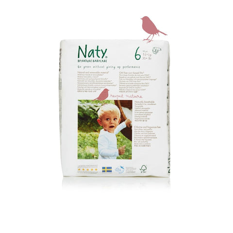 Naty by Nature Babycare Size 6 Extra Large Nappy