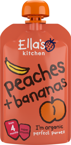 Ella's Organic Peaches & Bananas