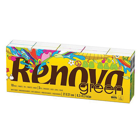Renova Green White Tissues 100% Recycled