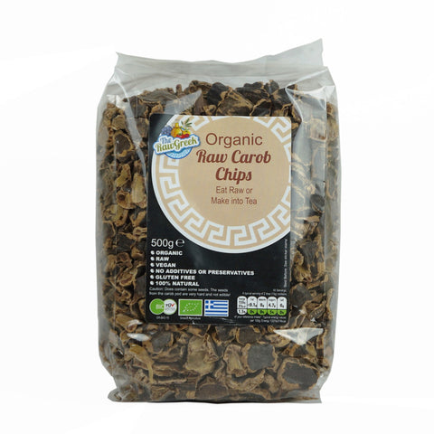 The Raw Greek Organic Raw Carob Chips