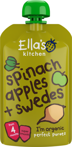 Ella's Organic Spinach, Apple & Swede