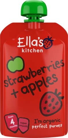 Ella's Organic Strawberries & Apples