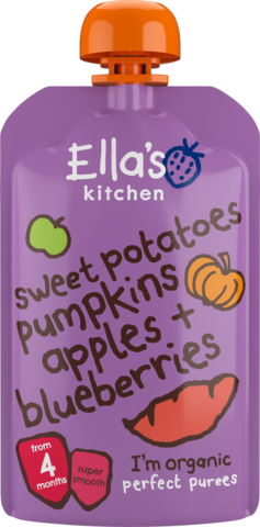 Ella's Organic Sweet Potato, Pumpkin, Apple & Blueberry