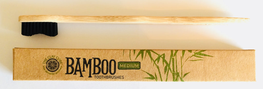 The Clay Cure Bamboo Toothbrush - Medium