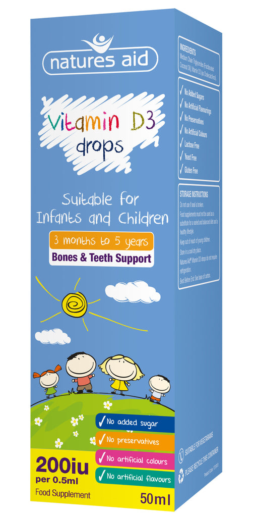 Nature's Aid Kids Vitamin D3 Drops