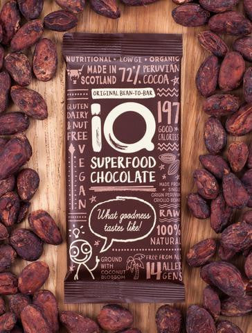 iQ Superfood Chocolate 72% - Original Bean-To-Bar