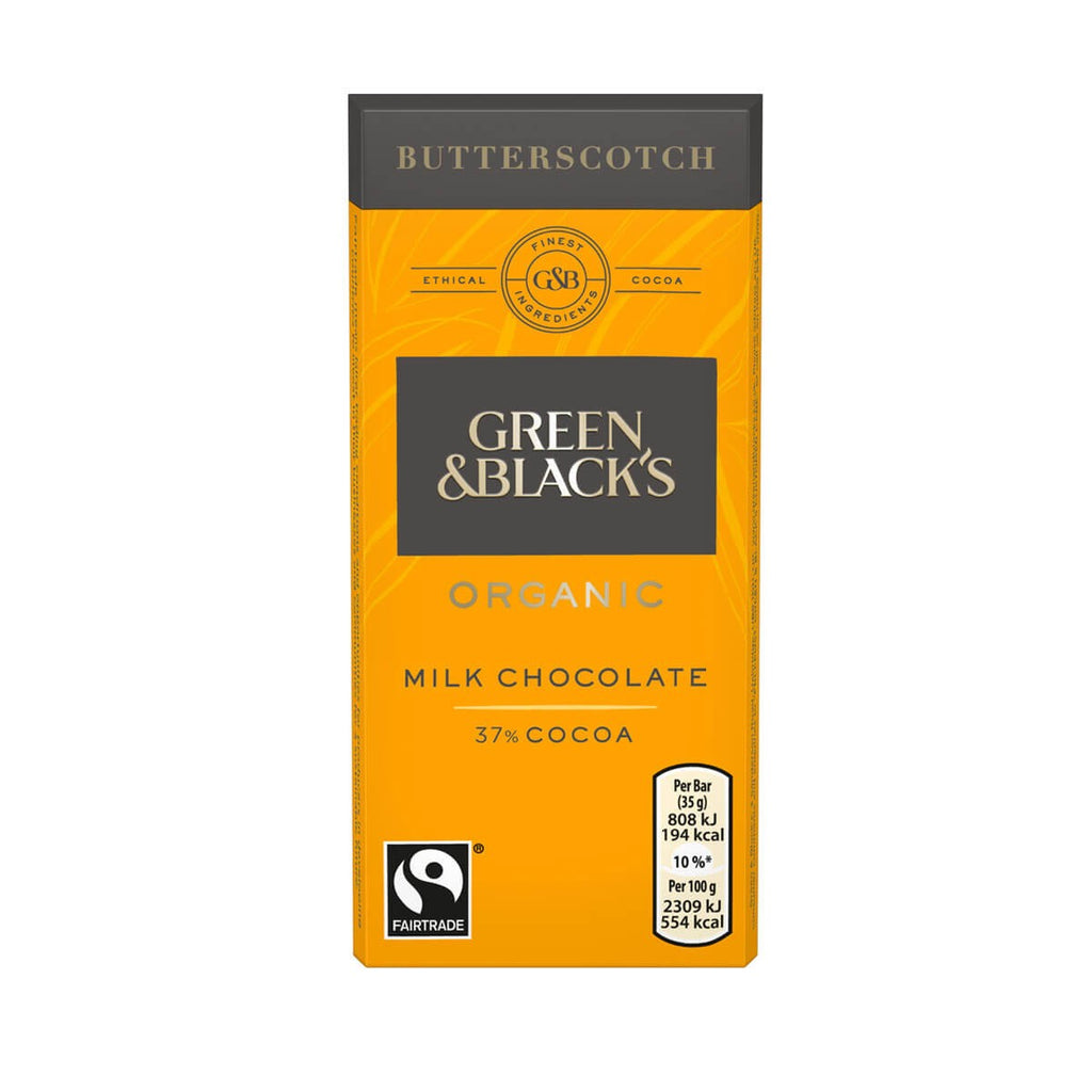 G&B Organic Butterscotch Milk Chocolate