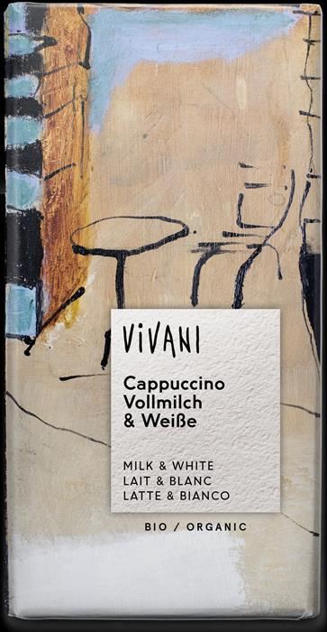 Vivani Organic Milk and White Cappuccino Chocolate