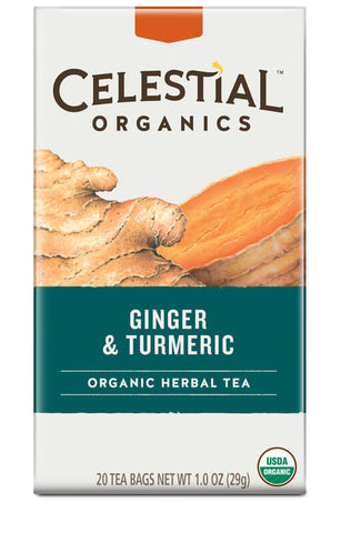 Celestial Seasonings Organic Ginger & Turmeric Tea