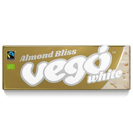 Vego Organic Almond Bliss White Chocolate Bar