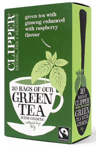 Clipper Green Tea with Raspberry & Ginseng