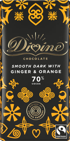 Divine Dark Chocolate with Ginger & Orange