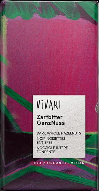 Vivani Organic Dark Chocolate with Whole Hazelnuts