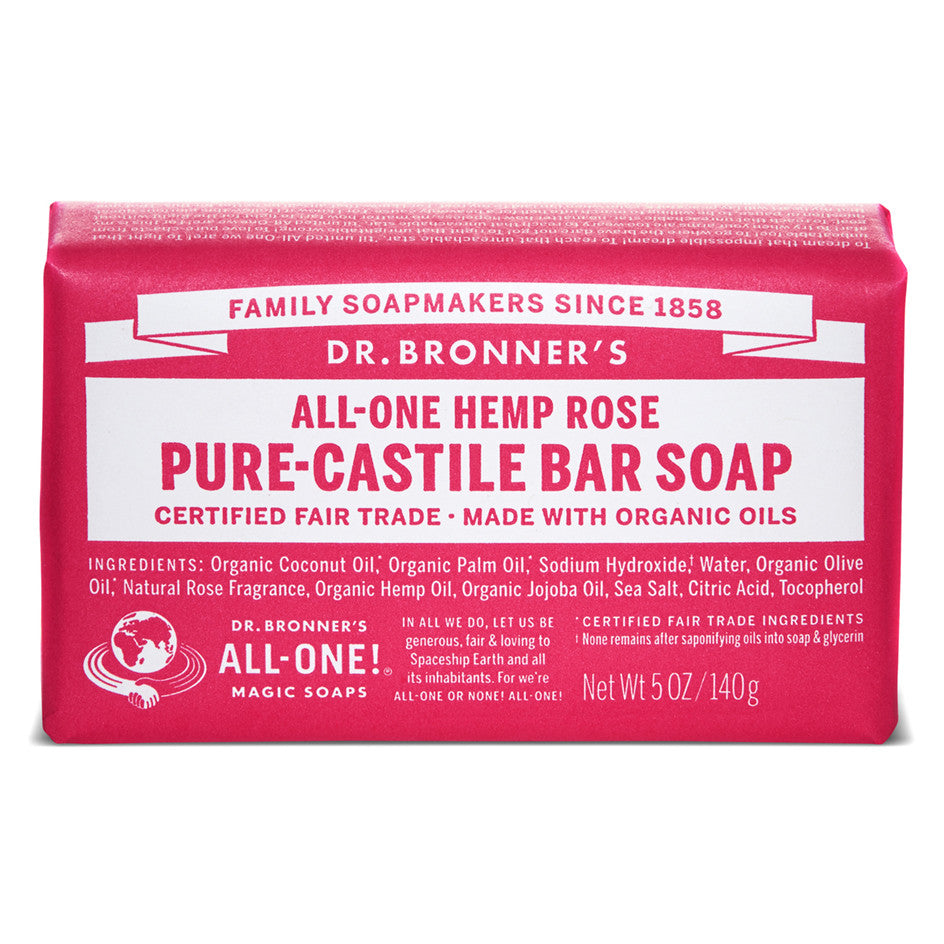 Dr.Bronner Soap Bar - Rose
