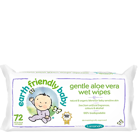 Earth Friendly Baby Gentle Aloe Vera Wet Wipes