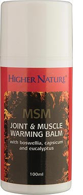 Higher Nature MSM Joint & Muscle Warming Balm