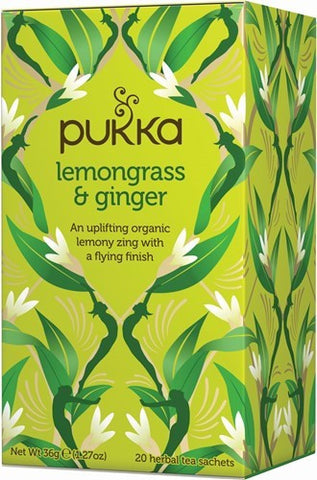 Pukka Lemongrass and Ginger Herbal Tea