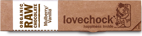 Lovechock Raw Chocolate Bar - Mulberry & Vanilla