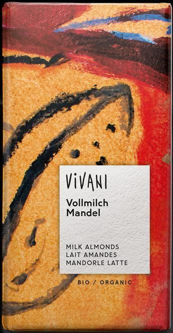 Vivani Organic Milk Chocolate with Almonds