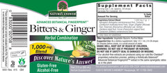 Nature's Answer Bitters & Ginger - alcohol free
