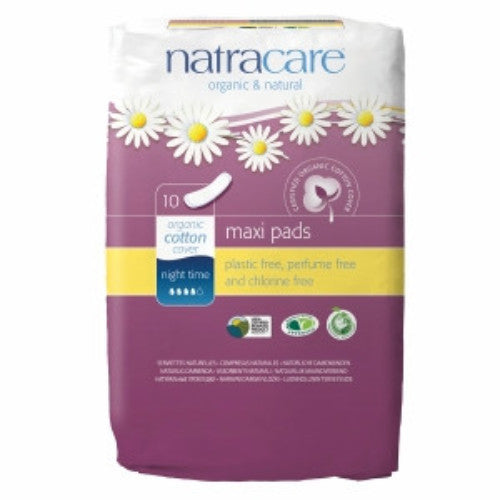 Natracare Maxi Pads - Night Time