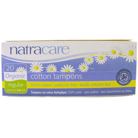 Natracare Organic Tampons - Regular (non-Applicator)