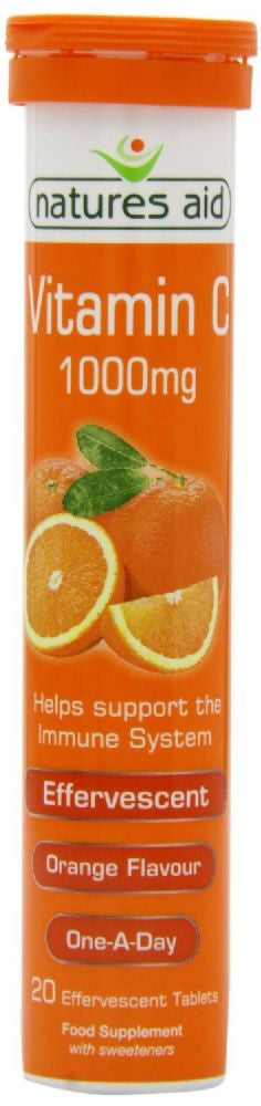 Nature's Aid Vitamin C 1000mg Effervescent Orange