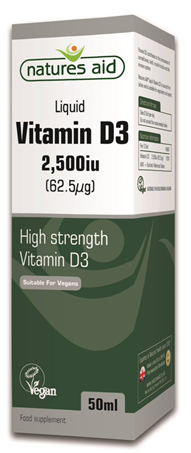 Nature's Aid Vitamin D3 2500iu