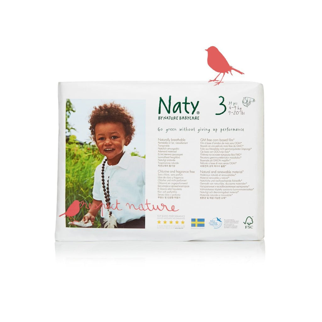 Naty by Nature Babycare Size 3 Small Nappy