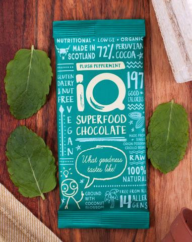 iQ Superfood Chocolate 72% - Plush Peppermint