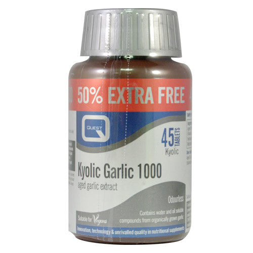Quest Kyolic Garlic 1000mg Odourless (50% EXTRA)
