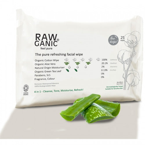 Rawganic Facial Cleansing Wipes